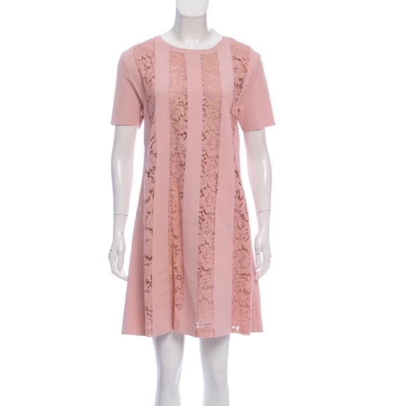 Valentino Dresses & Skirts - Valentino Pink Lace Flare Dress NEW w/tags